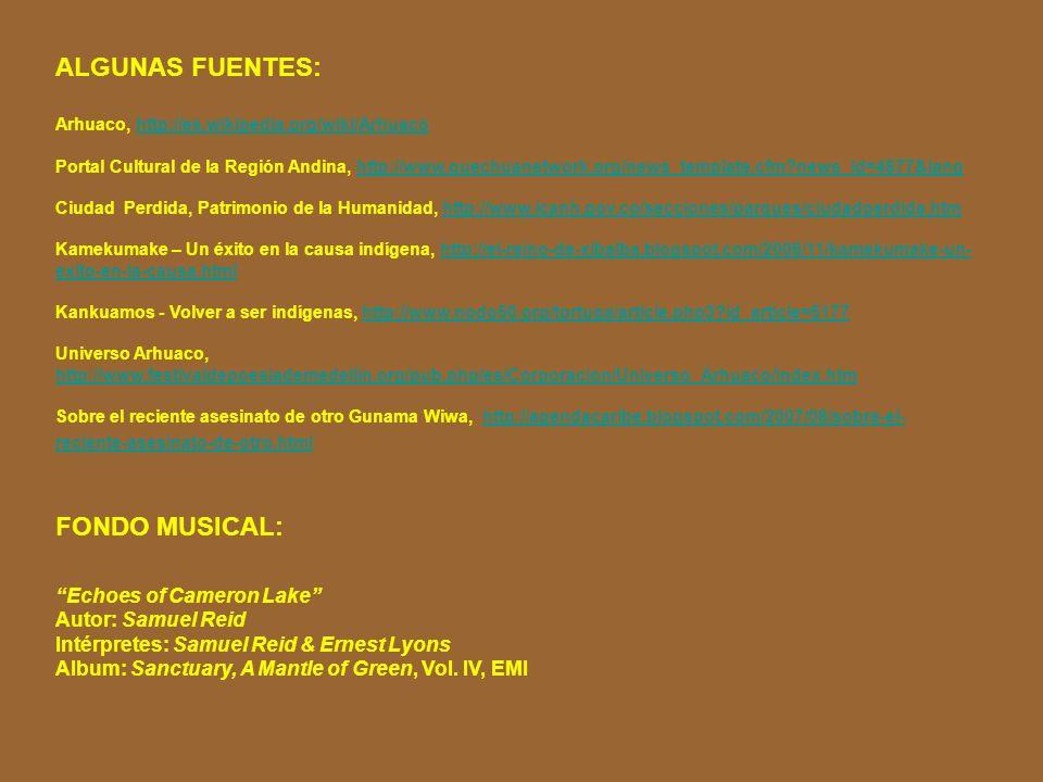 ALGUNAS FUENTES: FONDO MUSICAL: Echoes of Cameron Lake