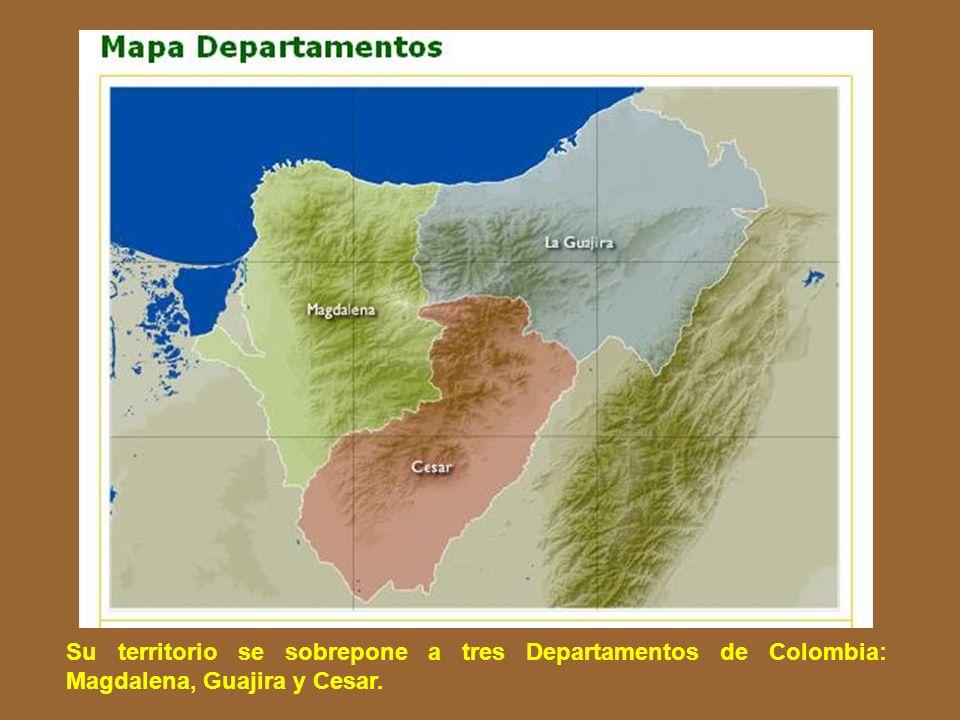 Su territorio se sobrepone a tres Departamentos de Colombia: Magdalena, Guajira y Cesar.