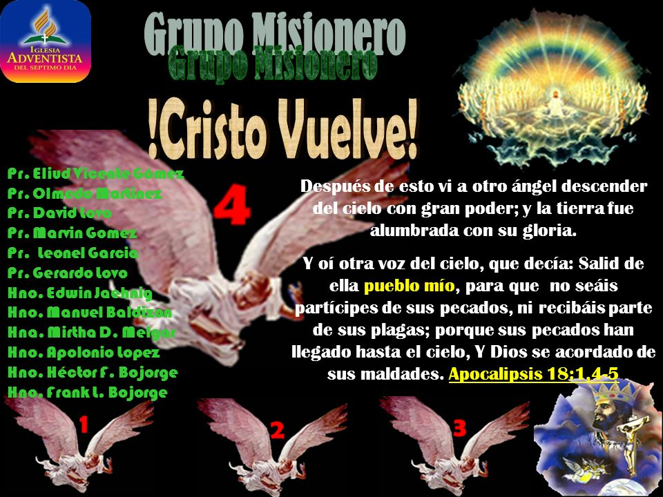 !Cristo Vuelve! Grupo Misionero