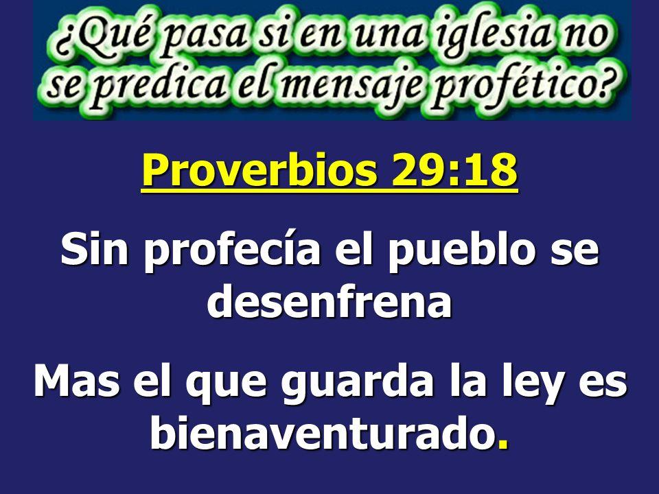 Sin profecía el pueblo se desenfrena
