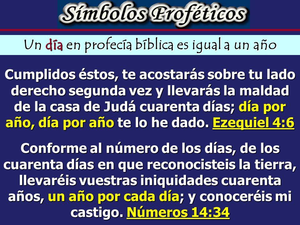 Un día en profecía bíblica es igual a un año