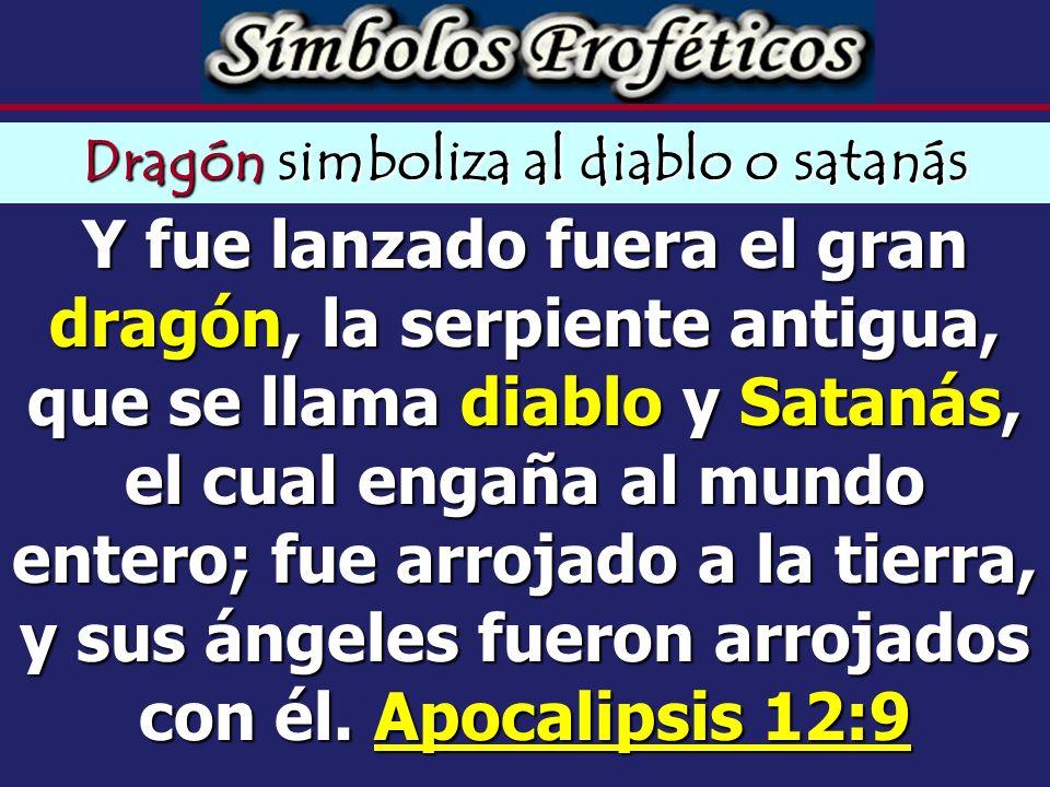 Dragón simboliza al diablo o satanás