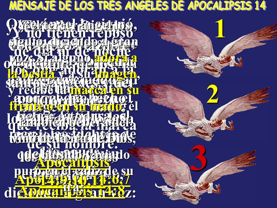 MENSAJE DE LOS TRES ANGELES DE APOCALIPSIS 14