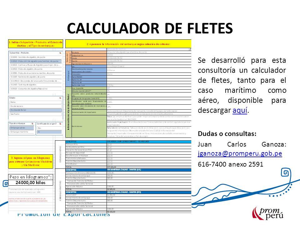 CALCULADOR DE FLETES