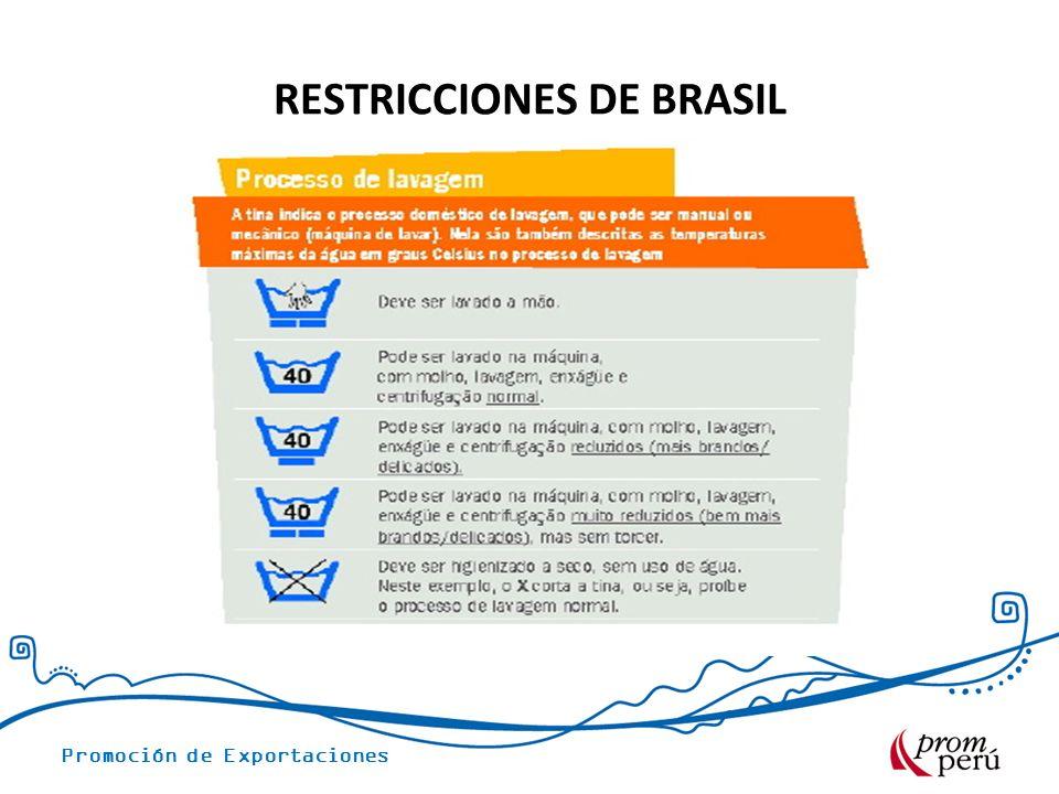 RESTRICCIONES DE BRASIL