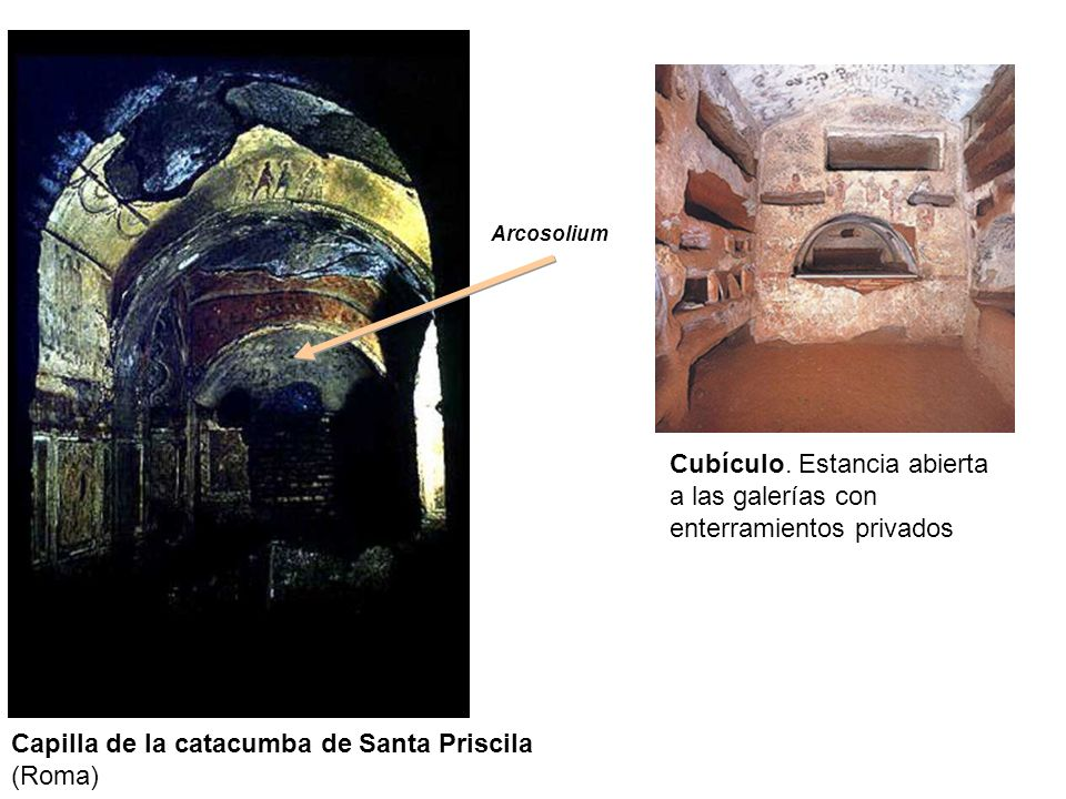 Capilla de la catacumba de Santa Priscila (Roma)