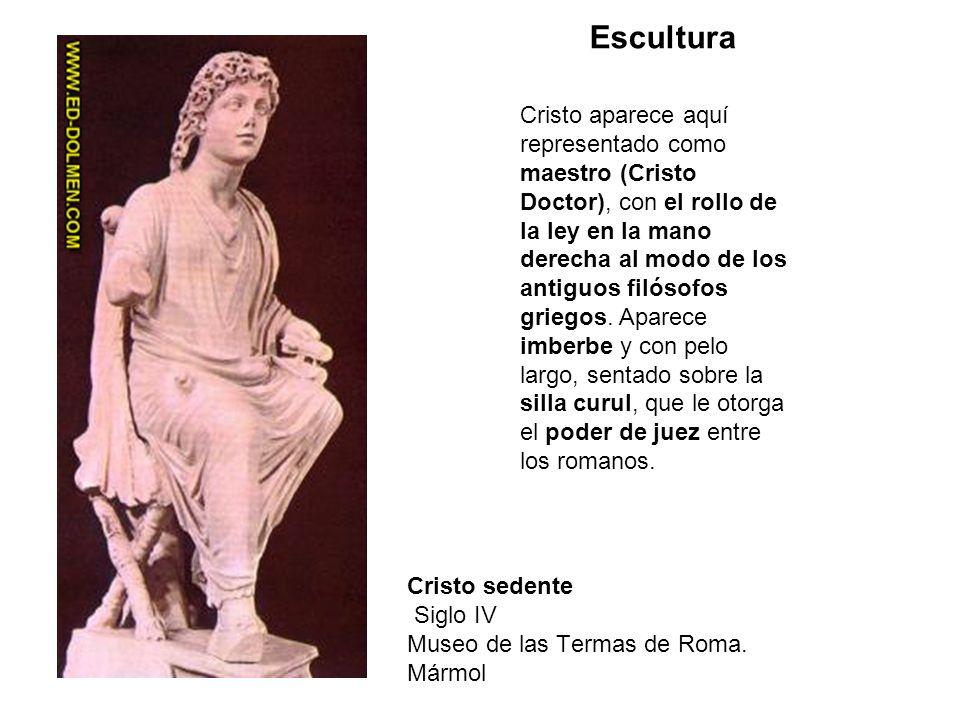 Cristo sedente Siglo IV Museo de las Termas de Roma. Mármol
