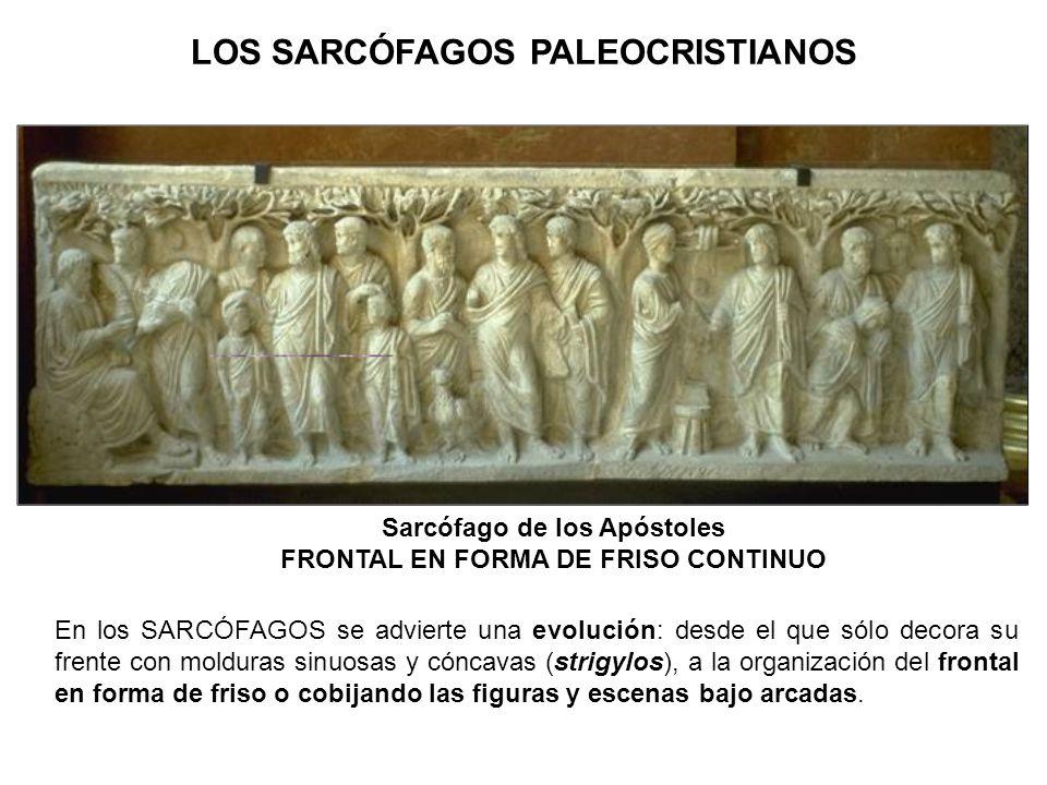 Sarcófago de los Apóstoles FRONTAL EN FORMA DE FRISO CONTINUO
