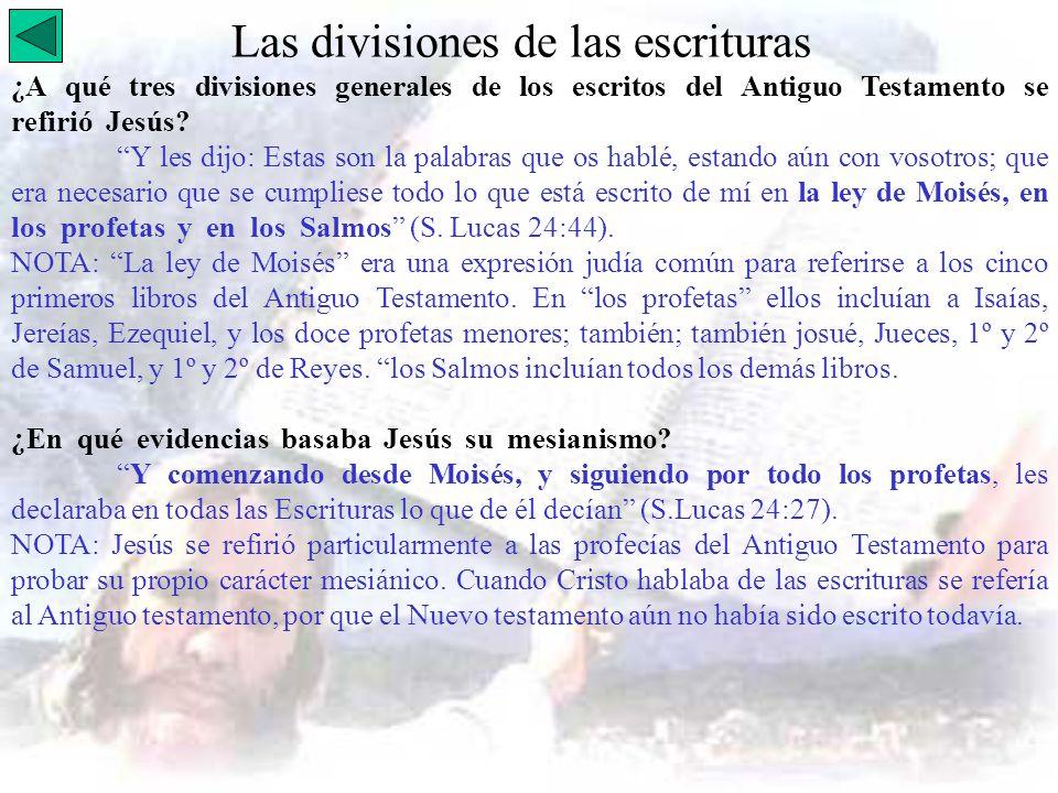 Las divisiones de las escrituras