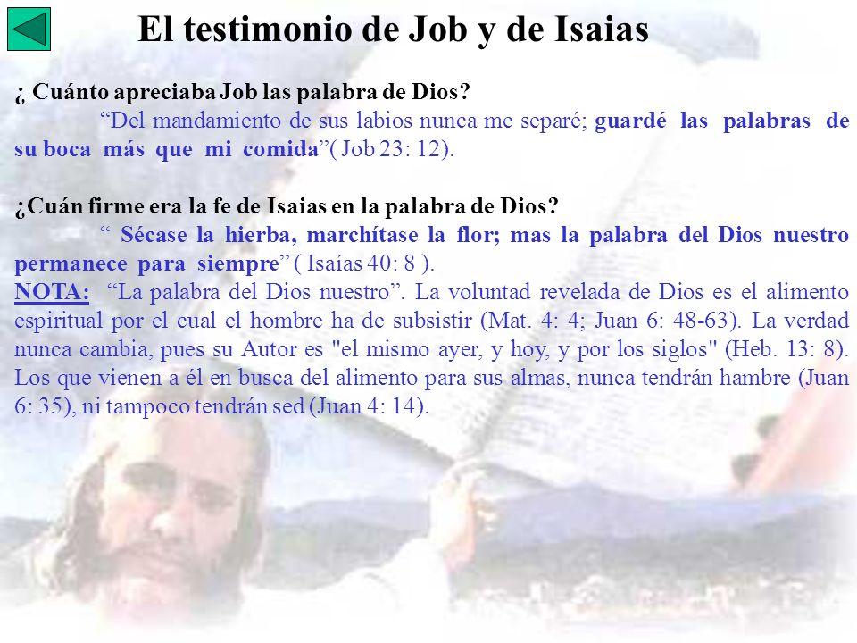 El testimonio de Job y de Isaias