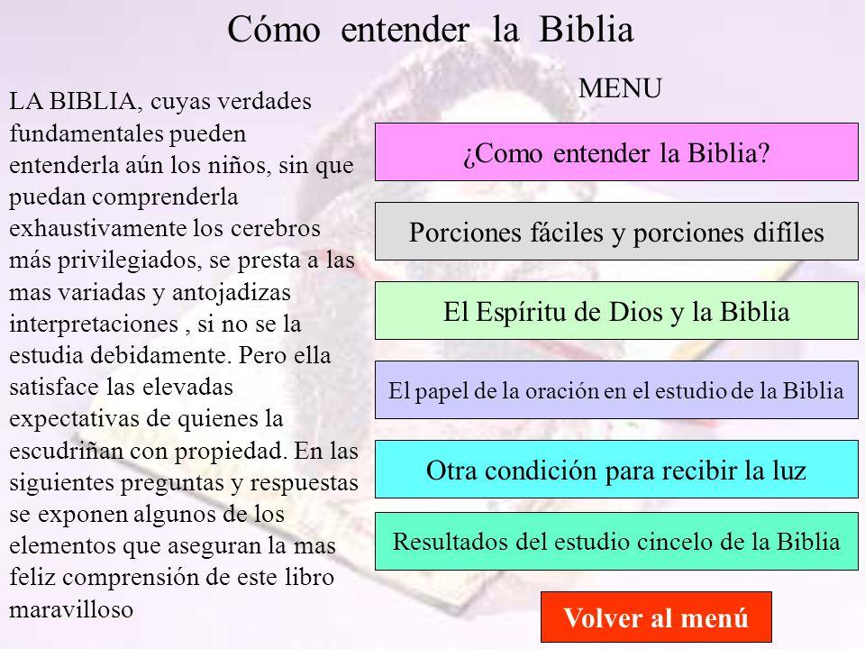 Cómo entender la Biblia