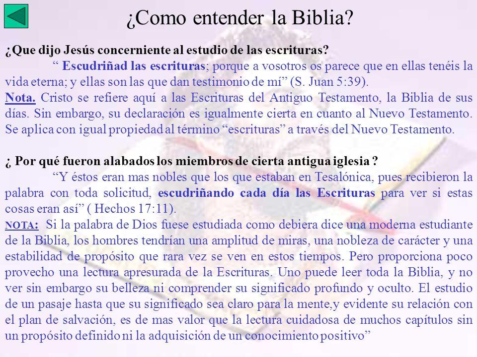 ¿Como entender la Biblia