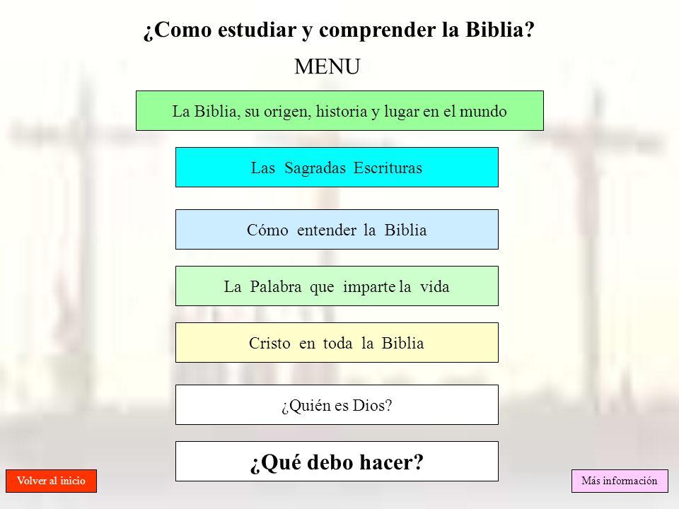 ¿Como estudiar y comprender la Biblia