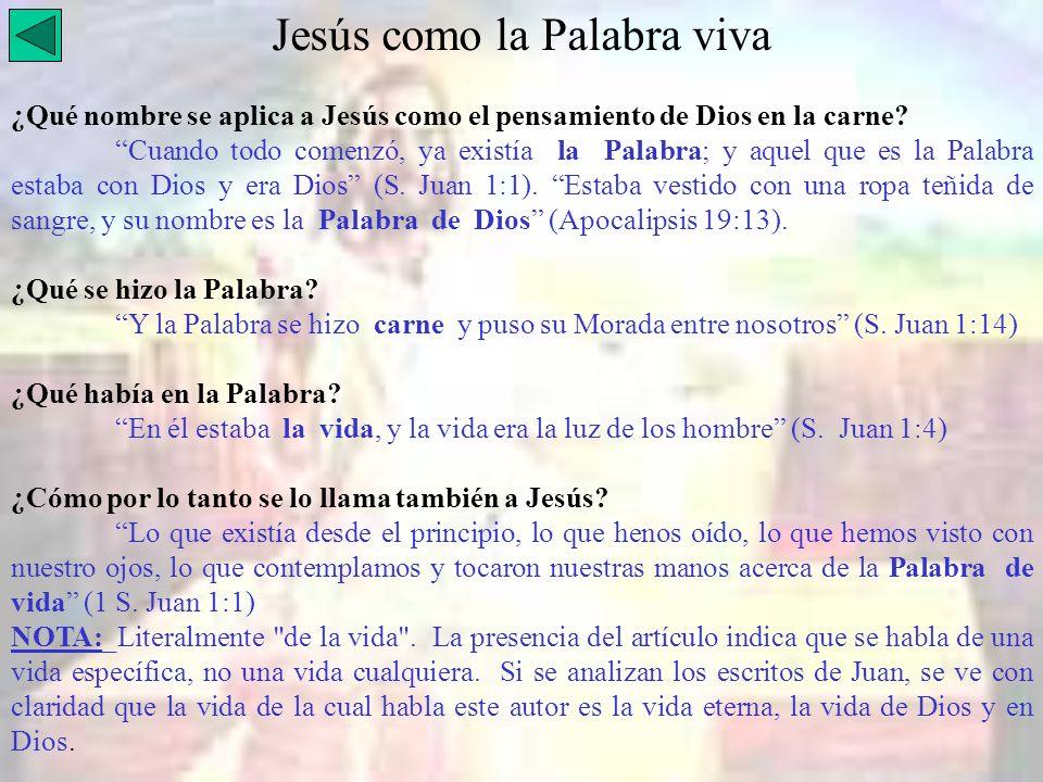 Jesús como la Palabra viva
