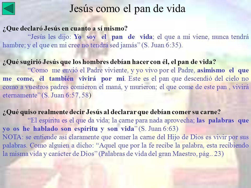 Jesús como el pan de vida