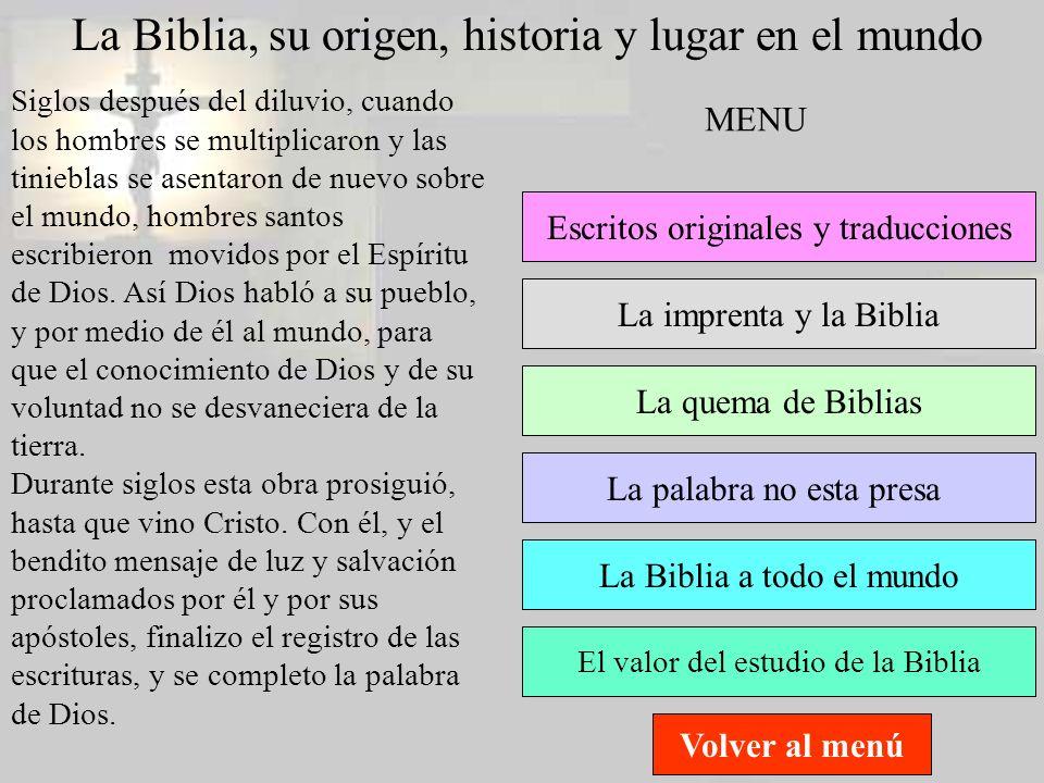 La Biblia, su origen, historia y lugar en el mundo