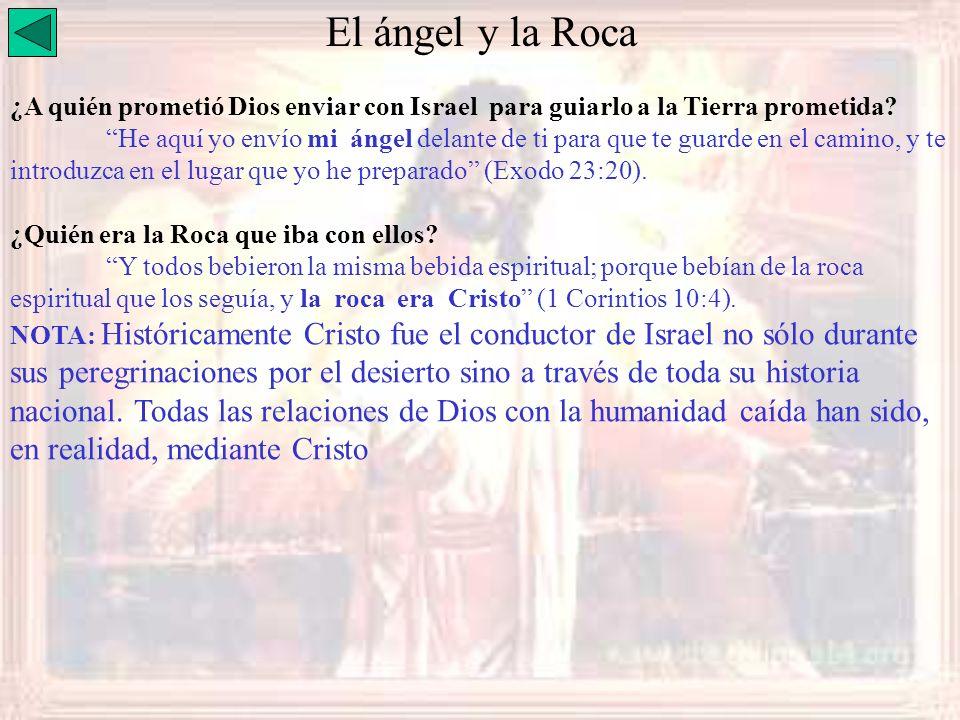 El ángel y la Roca ¿A quién prometió Dios enviar con Israel para guiarlo a la Tierra prometida