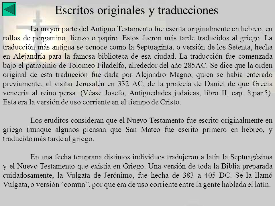Escritos originales y traducciones