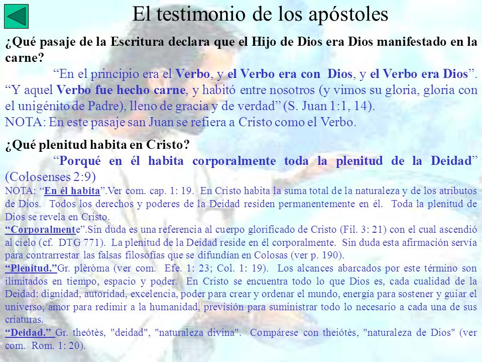 El testimonio de los apóstoles