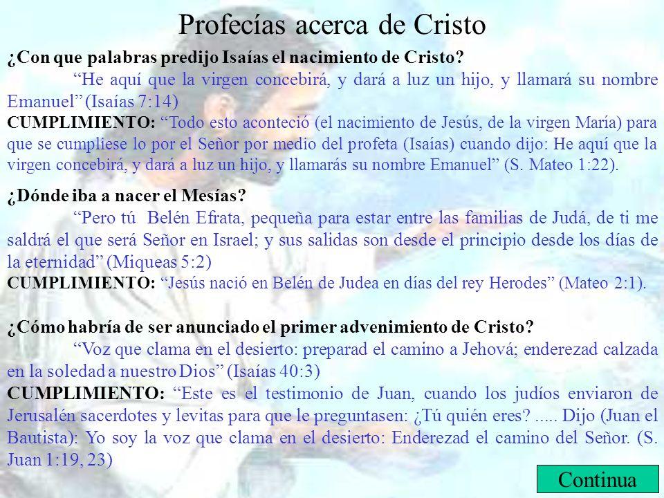 Profecías acerca de Cristo