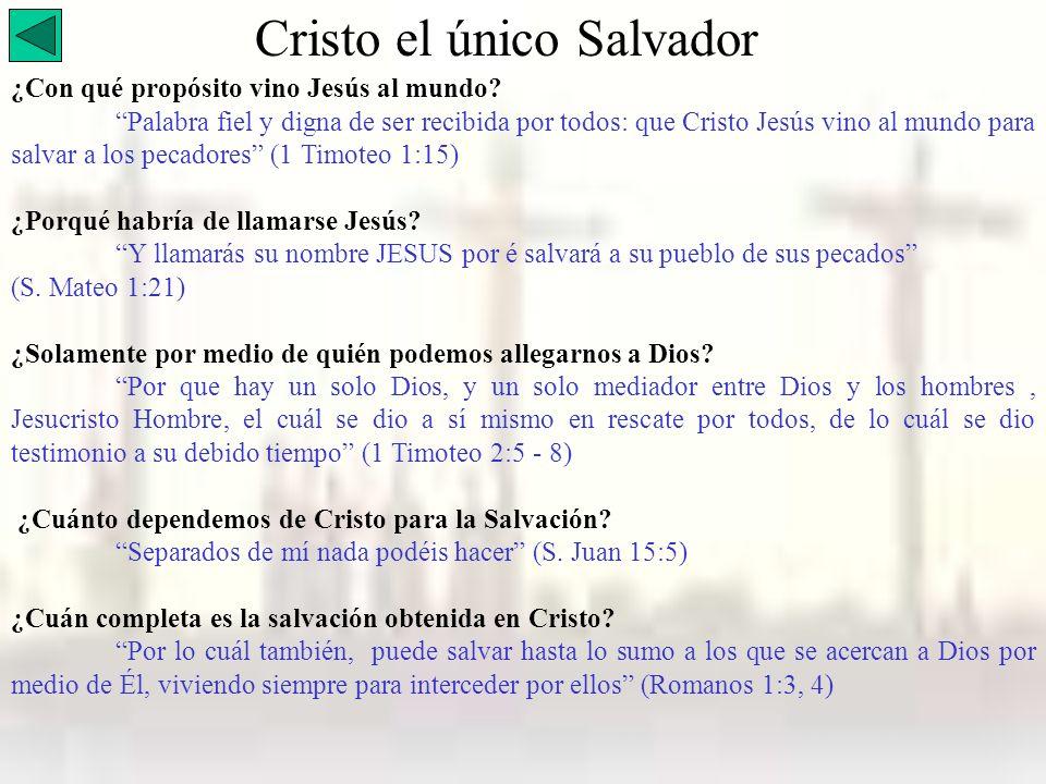 Cristo el único Salvador