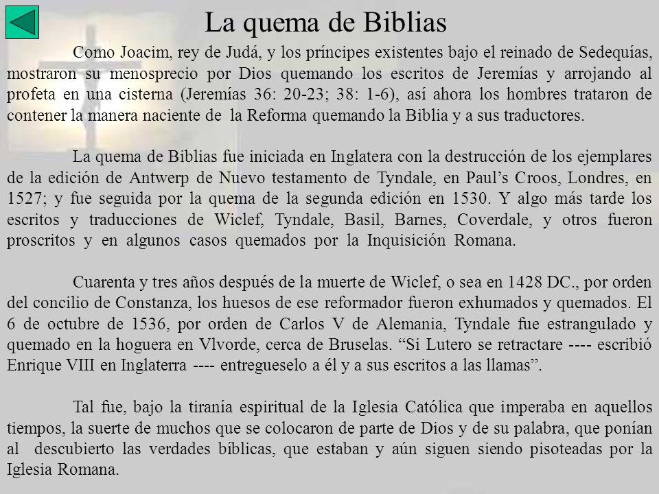 La quema de Biblias