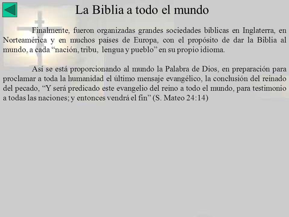 La Biblia a todo el mundo