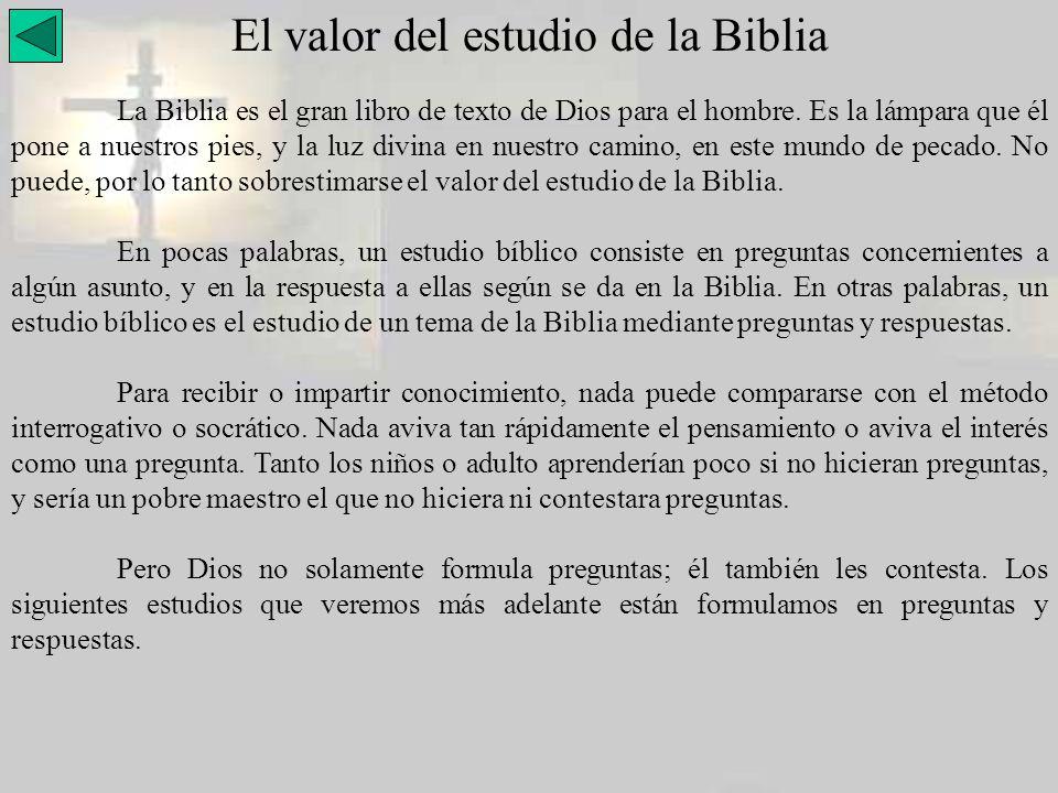 El valor del estudio de la Biblia