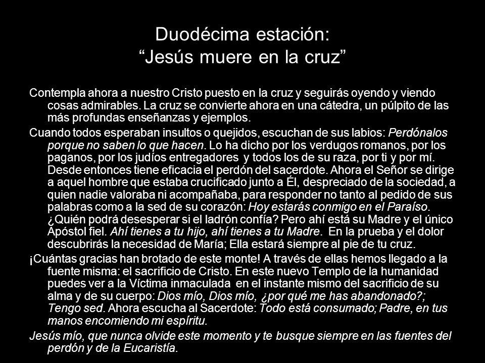 Duodécima estación: Jesús muere en la cruz