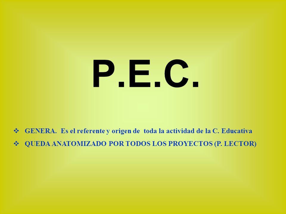 P.E.C. GENERA. Es el referente y origen de toda la actividad de la C.
