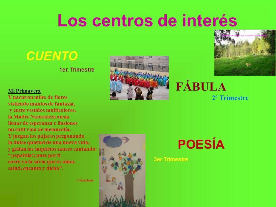 Los centros de interés CUENTO FÁBULA POESÍA 2º Trimestre Mi Primavera