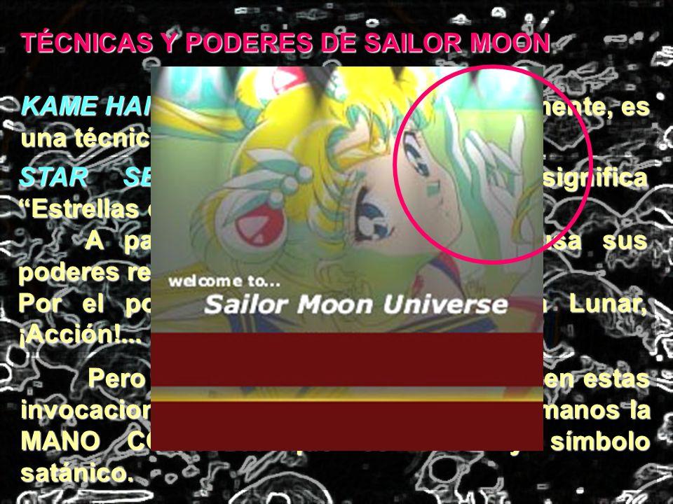 TÉCNICAS Y PODERES DE SAILOR MOON