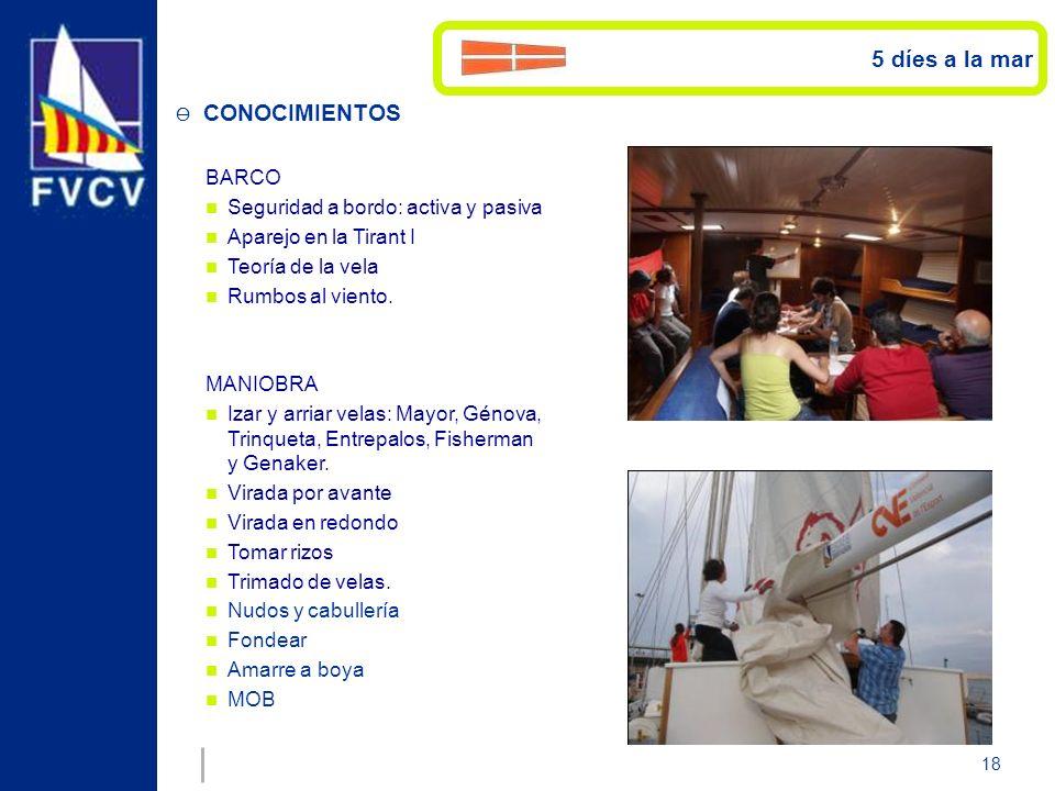 5 díes a la mar CONOCIMIENTOS BARCO Seguridad a bordo: activa y pasiva