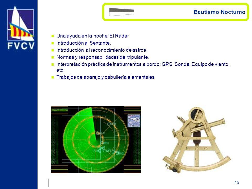 Bautismo Nocturno Una ayuda en la noche: El Radar