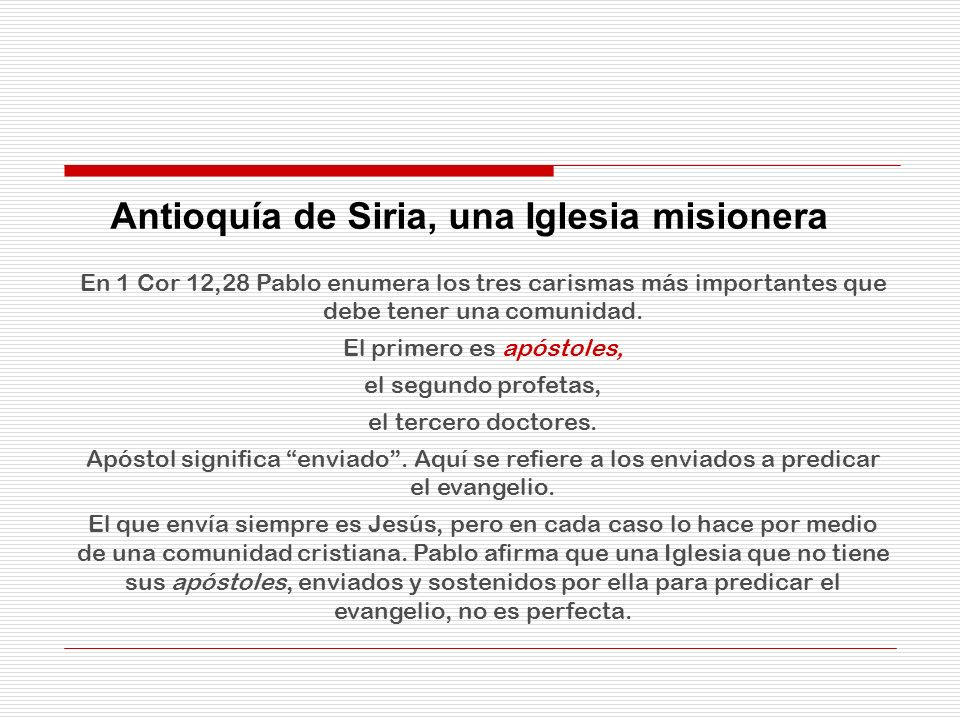 Antioquía de Siria, una Iglesia misionera