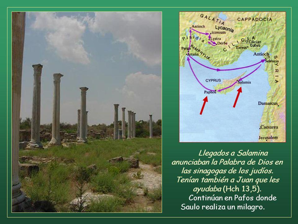 Continúan en Pafos donde Saulo realiza un milagro.