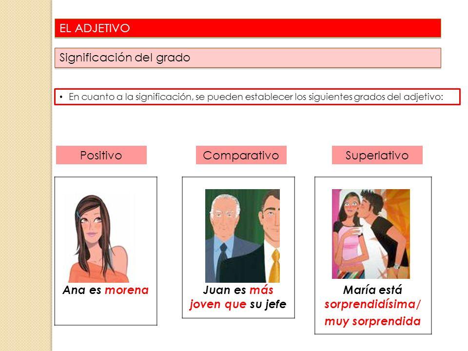 Juan es más joven que su jefe María está sorprendidísima/