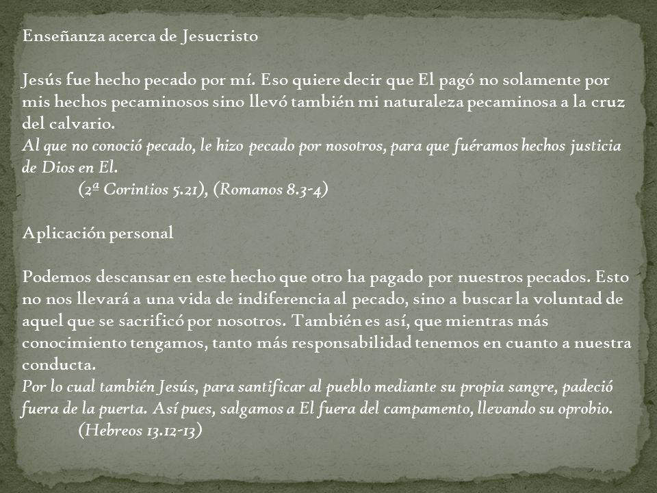 Enseñanza acerca de Jesucristo