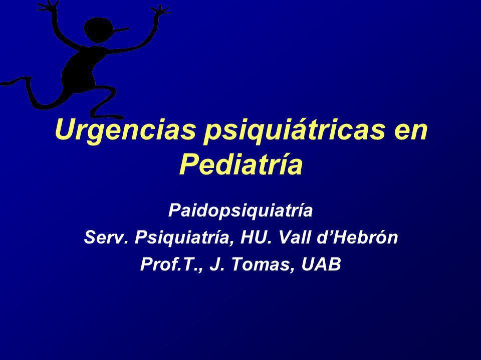Urgencias psiquiátricas en Pediatría