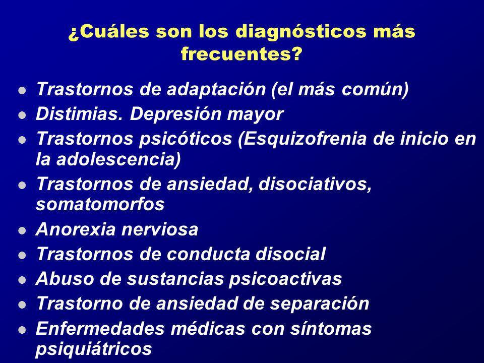 ¿Cuáles son los diagnósticos más frecuentes