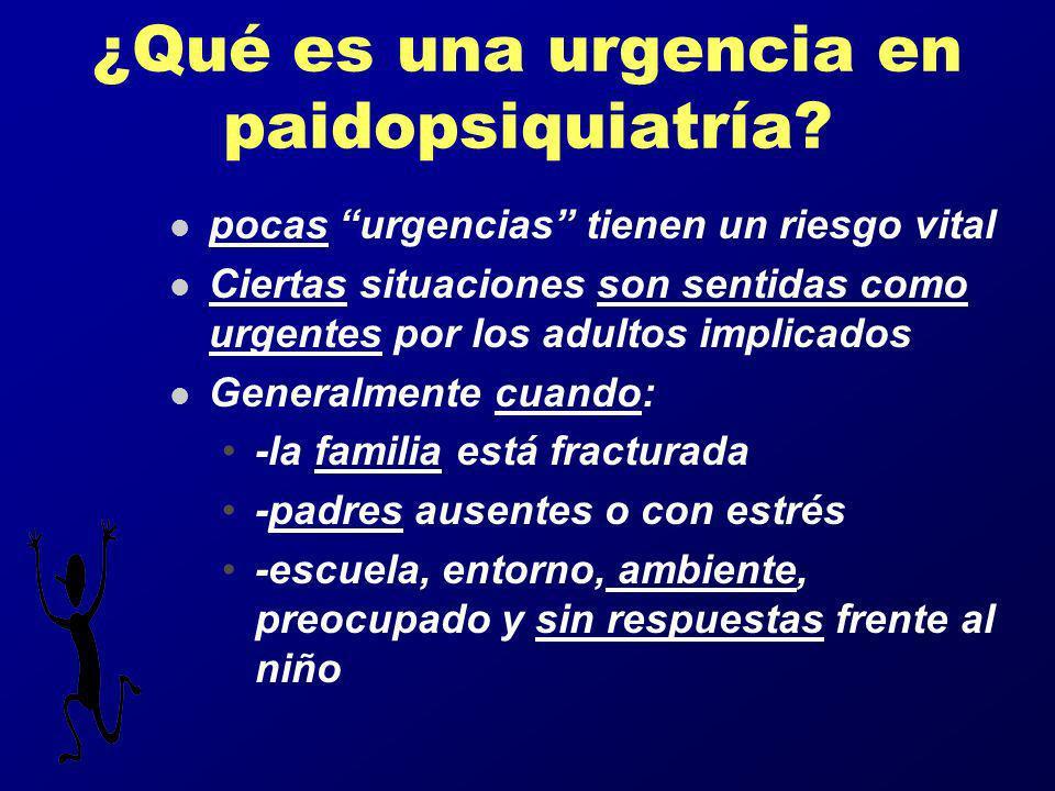 ¿Qué es una urgencia en paidopsiquiatría