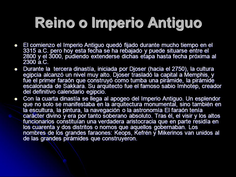 Reino o Imperio Antiguo