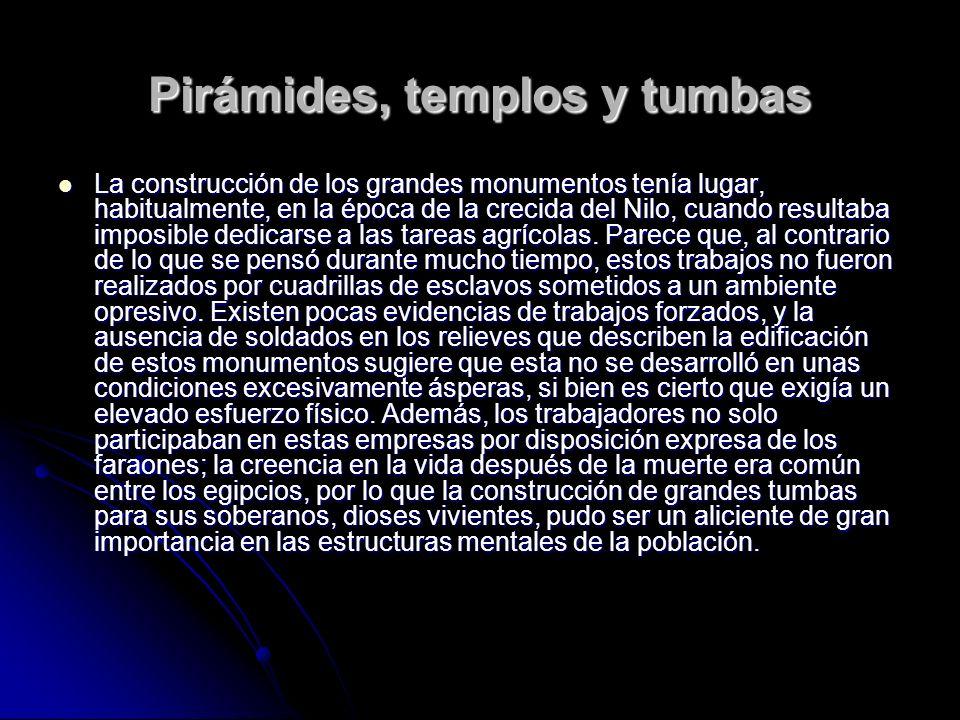 Pirámides, templos y tumbas