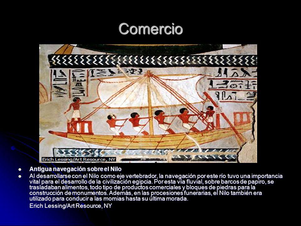 Comercio Antigua navegación sobre el Nilo