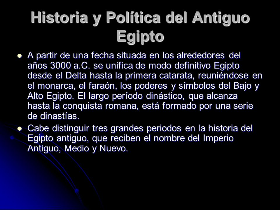 Historia y Política del Antiguo Egipto