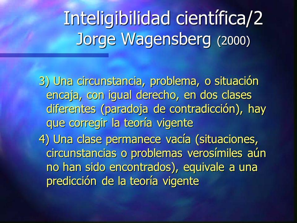 Inteligibilidad científica/2 Jorge Wagensberg (2000)