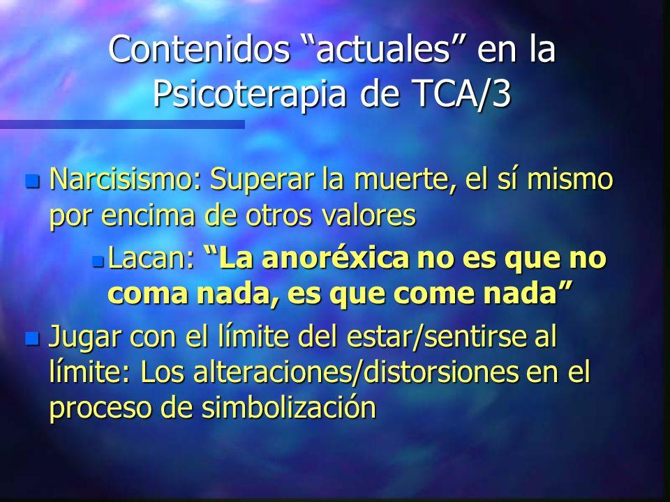 Contenidos actuales en la Psicoterapia de TCA/3