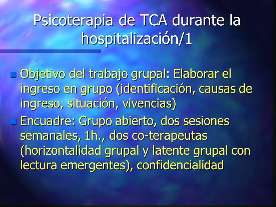 Psicoterapia de TCA durante la hospitalización/1