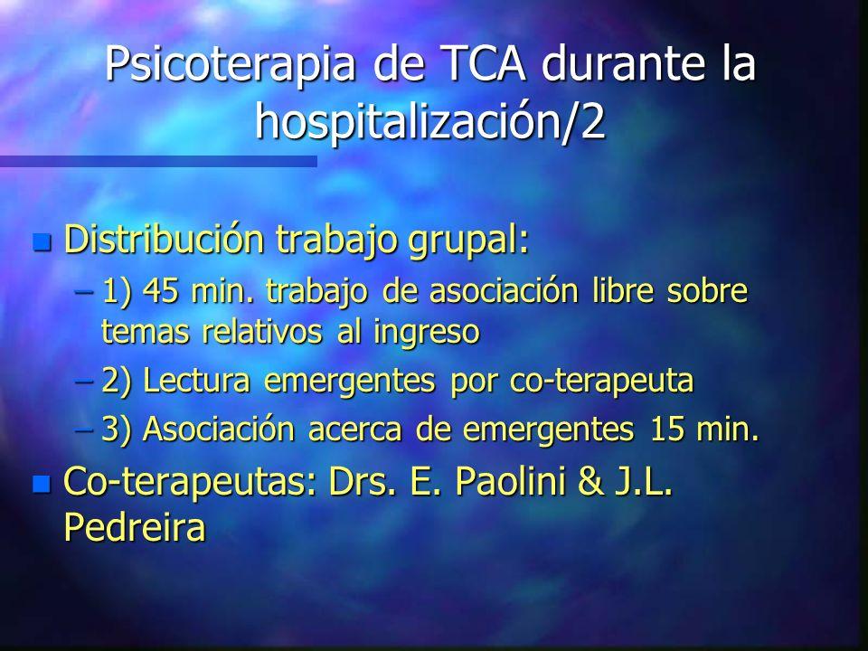 Psicoterapia de TCA durante la hospitalización/2