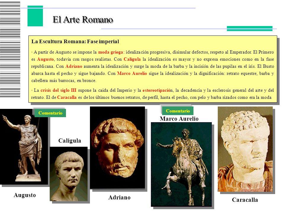 El Arte Romano Marco Aurelio Caligula Augusto Adriano Caracalla